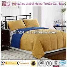 Blue & Gold Down Alternative Quilt/Microfiber Duvet/Polyester Comforter Fiber Quilt Cover