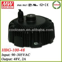 Meanwell HBG-100-48 96w led flood light driver