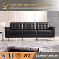 """Florence knoll leatehr moderno sofá de la sala muebles para el hogar réplica producto"""" 1) superior- ganancia de cuero 2) marco de acero inoxidable 3) hola"""