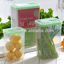 3pcs High rectangle plastic food storage box