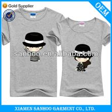 Good Quality Fashion Style Bodyfit Printed Couple Love OEM T Shirt