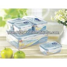 Plastic Polypropylene Microwave Box Airtight Vacuum Container Set