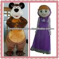 visual buena masha para adultos y el oso mascota trajes para la venta