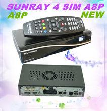 Sunray 4 SIM A8P Card +WIFI 800 HD Se Sr4 With Triple tuner Flash Original Software Main Feature: DVB receiver Sunray4 800 se
