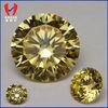 Semi precious cz round yellow synthetic cz stone