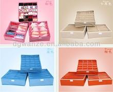 2015 New Style Foldable Underwear Storage Boxes Cheap Non-woven Bra Organizer Box Wholesale