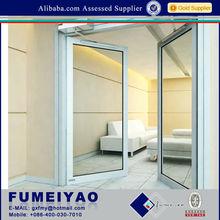 Aluminium double casement window interior