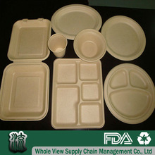 compostable wheat straw fiber party paper tableware