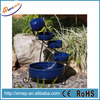 Blue Ceramic Garden Solar Powered Fountains In Solar Heat Pump