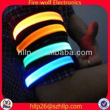 China manufacturer led flashing mp3 armband case