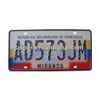 Venezuela number plate