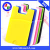 silicone smart wallet for iphone 6 mobile phones 3M adhesive sticks card holder for iphone 6