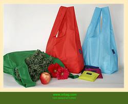 Foldable nylon baggu shopping bag