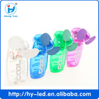 Fast Sale Promotional Items Plastic Handheld Mini Fan New Lucency ABS Material Cooling Fan