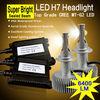 70W 6400lm H7 LED car headlight bulbs 12v off road car tuning light