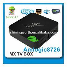 Dual Core AML8726-MX DVB-T2 Smart TV Box OEM ODM quality smart android 4.2 tv box
