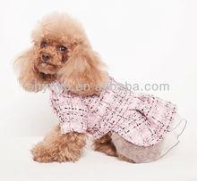 Wholesale Pink Lace Dog Dress With Rose Dog Clothing MJ1403