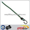 8mm verde cordão elástico com gancho de metal final