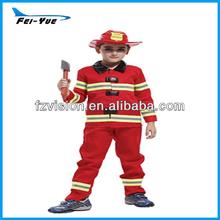 Manufacture Halloween party kids costumes Fireman uniform