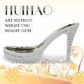Fh335 shiny silver hoch- absätzen schuhsohle/Außensohle mit strass für frauen schuhe