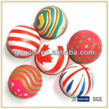 Colorful foam rubber bouncing ball