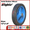 "Buggy rubber wheel ,blue rubber 12"" solid tyred wheel"