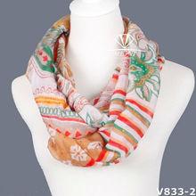 New fashion design wholesale chevron Infinity scarf