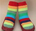 Bebé feliz fabricante de encargo de zapatos calcetines calcetines zapatos( sknf0002)