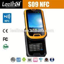 Orignal S09 NFC reader PTT Walkie Talkie IP68 senior citizen big keyboard mobile phone b03 rugged nfc android smartphone
