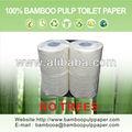 Pulpa de bambú de cuarto de baño de tejido( papel higiénico) 4 rollos/pack