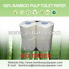 Bamboo pulp bathroom tissue(toilet paper) 4 rolls/pack