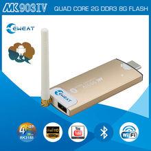 BEST Quad Core RK3188 MK903IV Cortex-A9 1.8GHz 2GB 8GB Bluetooth Android 4.4 mini PC tv dongle