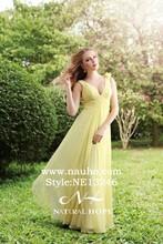 Glamorous dubai Chiffon v-neck arabic evening gown dubai abaya and dubai kaftan evening dresses