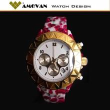 2014 Vogue lady ceramic chronograph watch
