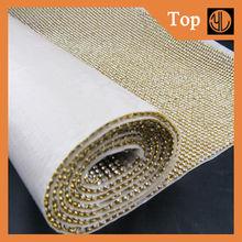 Bling Bling decorative rhinestone mesh sheet rhinestione mesh trimmings for clothing