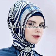 hijab pure silk women square musilim hijab