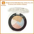 4 correspondência de cores maquiagem sombra em pó paleta da com recipiente redondo