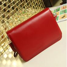 Fashion leather messenger bag for women ,red lady messenger bag