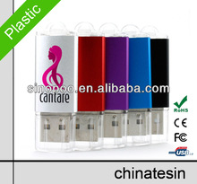 Mini Fastion USB Flash , Plastic USB Flash Drive with Csutomized Logo