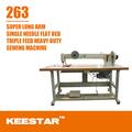 Keestar 263 única agulha composto de alimentação filtro industrial máquina de costura saco braço longo