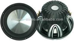 Hi-end dual coil 12 inch die cast aluminum basket creative car subwoofer