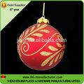 venta al por mayor pequeño de navidad colgante bolas de vidrio coloreado para la venta