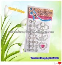 Diy crystal diamond shaped sticker,3d laptop sticker,mobile phone crystal stickers