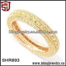 Handmade Silver &Brass Jewelry Yellow Memories Bands Ring