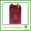 Rational construction non woven four bottle wine bag