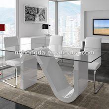 italian style modern glass coffee table