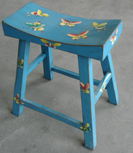 Antique oriental drawing stool LWS029