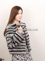 2015 hot sale new fashion lady's real rex rabbit fur jacket