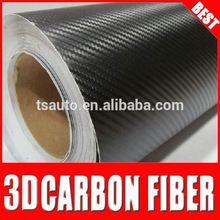 TSAUTOP car wrapping equipment car stickers 3d carbon fiber vinyl for car sticker Black