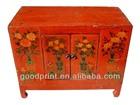 Antique Furniture in Wood Cabinet